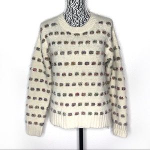 Anthropologie Moth tinsel striped sweater small